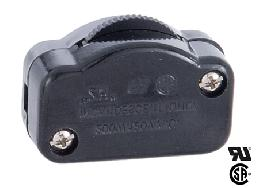 Black Hi-Low Inline Rotary Dimmer Switch