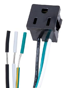 Black Convenience Outlet with Ground Wire