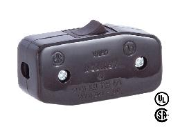 Brown Heavy Duty Inline Rocker Switch for Round Wire