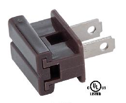 Brown Slide On Type Polarized Lamp Plugs
