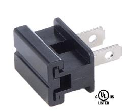 Black Slide On Type Polarized Lamp Plugs