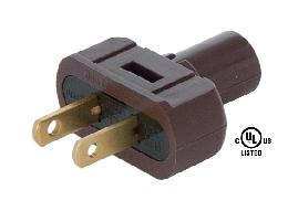 Brown Lamp Plugs for Round PVC Cord