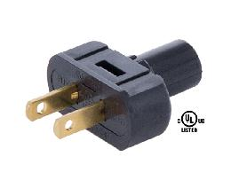 Black  Lamp Plugs for Round PVC Cord