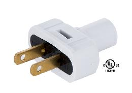White Lamp Plugs for Round PVC Cord