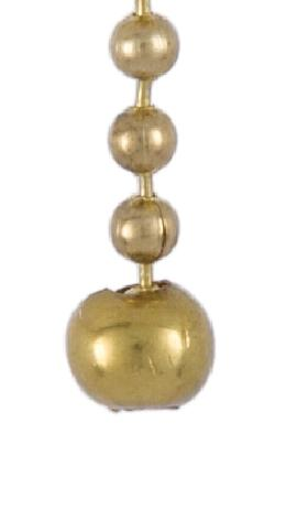 Brass Open Ball Beaded Chain Pull