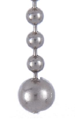 Nickel Plated Open Ball Beaded Chain Pull