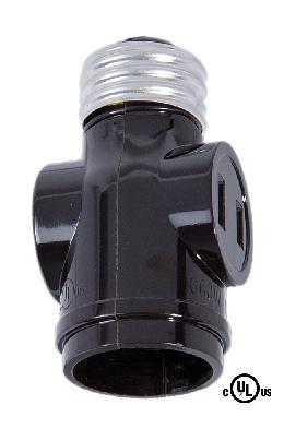 B/&P Lamp Leviton Brand Bakelite Turn Knob Socket W//Ring