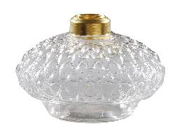 Clear Diamond Quilted Glass Bracket Lamp Font
