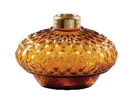Amber Diamond Quilted Glass Bracket Lamp Font