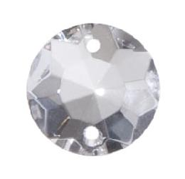 "5/8"" (16mm) Clear Crystal Round Rose Jewel"