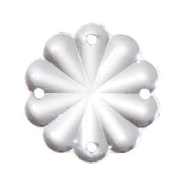 "1"" (25 mm) Clear Pressed Glass Rosette"