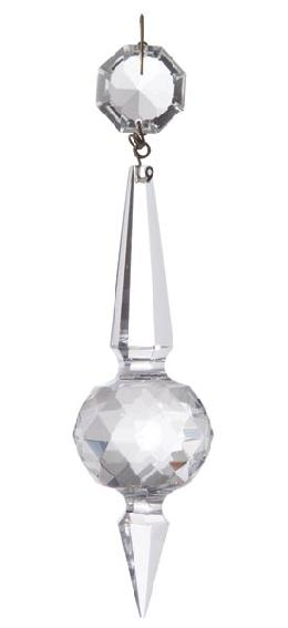 "5 1/4"" Magnum Prism with Clear Faceted Ball"