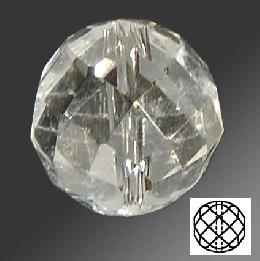 Faceted Bead Rock Crystal