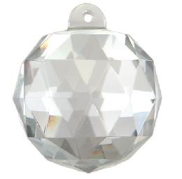 Clear Faceted Ball