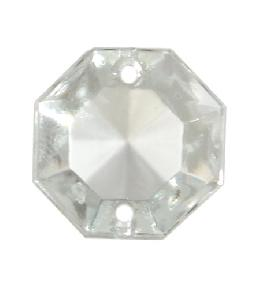 Clear Crystal Octagonal Jewel