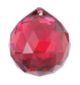 Strass Bordeaux Faceted Ball