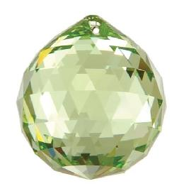 Strass Light Peridot Faceted Ball