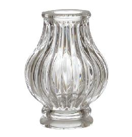 Pressed Glass Ribbed Column