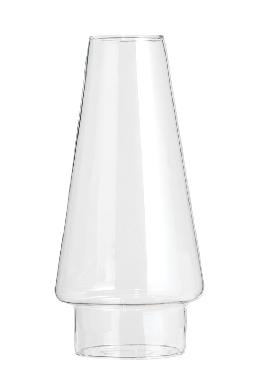 "3"" Fitter Modern Clear Glass Chimney, 8-1/2"" Tall"