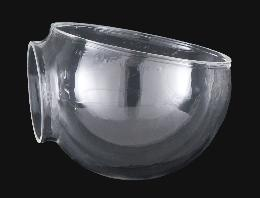 Clear Hand Blown Angle Lamp Elbow