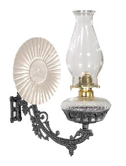 Metal Reflector-type Iron Wall Bracket Lamp with No. 2 oil Burner