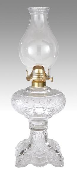 Princess Feather Oil Lamps Complete With Burner And
