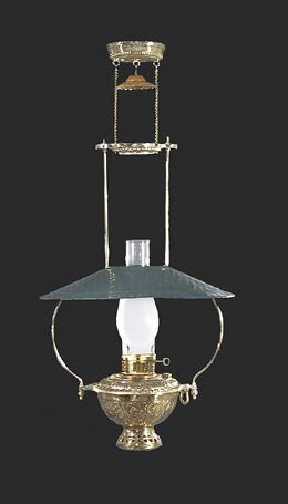 Mammoth Lamp with Antiqued Green Tin Shade