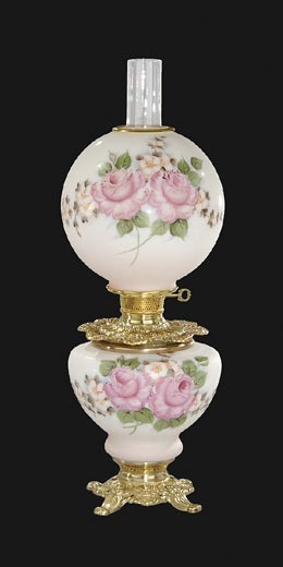 Hand Painted Bridal Roses Design Parlor Lamp