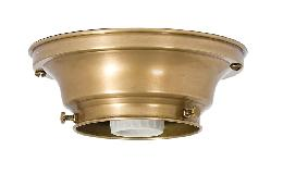 "3-1/4"" Fitter Wired Antique Brass Finish Brass Flush Mount Fixture"