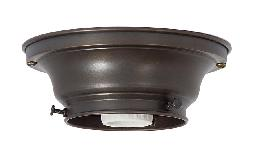 "3-1/4"" Fitter Wired Antique Bronze Finish Brass Flush Mount Fixture"