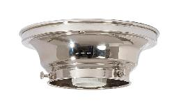 "3-1/4"" Fitter Wired Polished Nickel  Finish Brass Flush Mount Fixture"