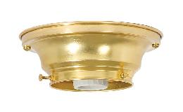 "3-1/4"" Fitter Wired Unfinished Brass Flush Mount Fixture"