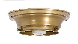 "4"" Fitter Wired Antique Brass Flush Mount Fixture"