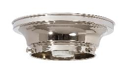 "4"" Fitter Wired Polished Nickel Finish Brass Flush Mount Fixture"