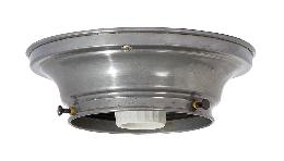 "4"" Fitter Wired Unfinished Steel Flush Mount Fixture"