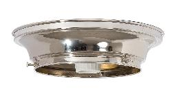 "6"" Fitter Wired Polished Nickel Finish Brass Flush Mount Fixture"
