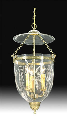 19th Century Hall Lantern with Laurel Swags design