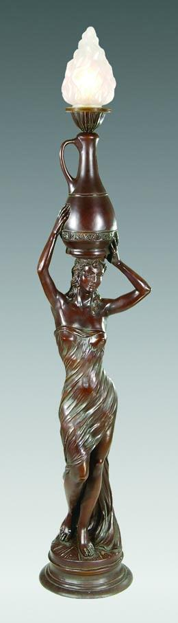 """Egyptian Girl"" Torchiere Lamp"