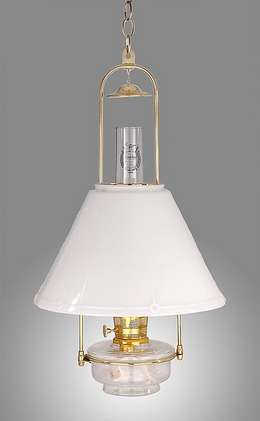 Aladdin Brand Deluxe Glass Hanging Lamp