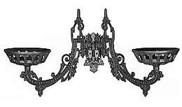 Cast Iron Double Wall Bracket Lamp