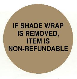 Shade Wrap Warning Label