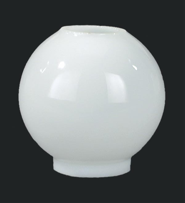3 1 2 Inch Diameter Miniature Opal Glass Ball Shade With 7 8 Fitter 4 Height Hand Blown American Made Fits Holder Item 10789