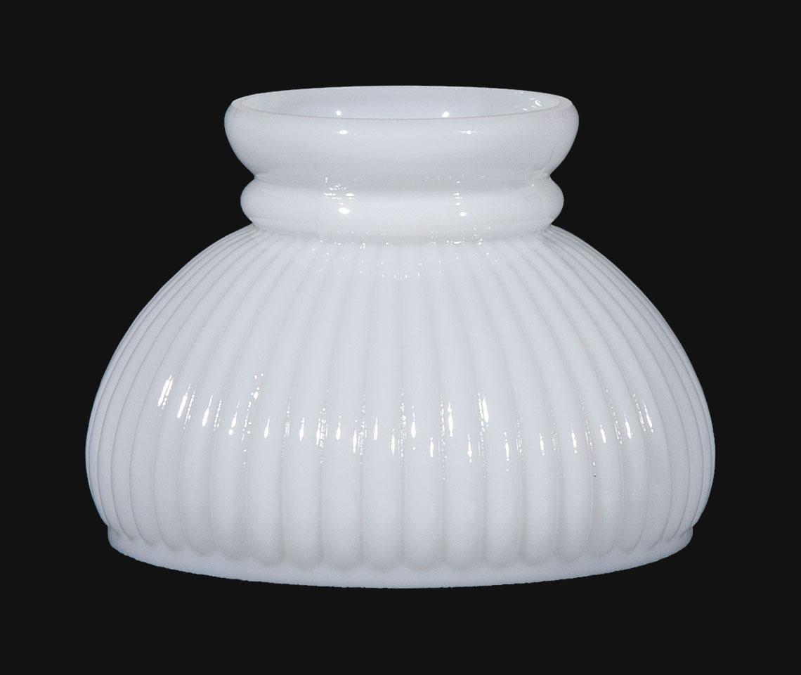 6 Opal Glass Rib Shade 00220 B Amp P Lamp Supply
