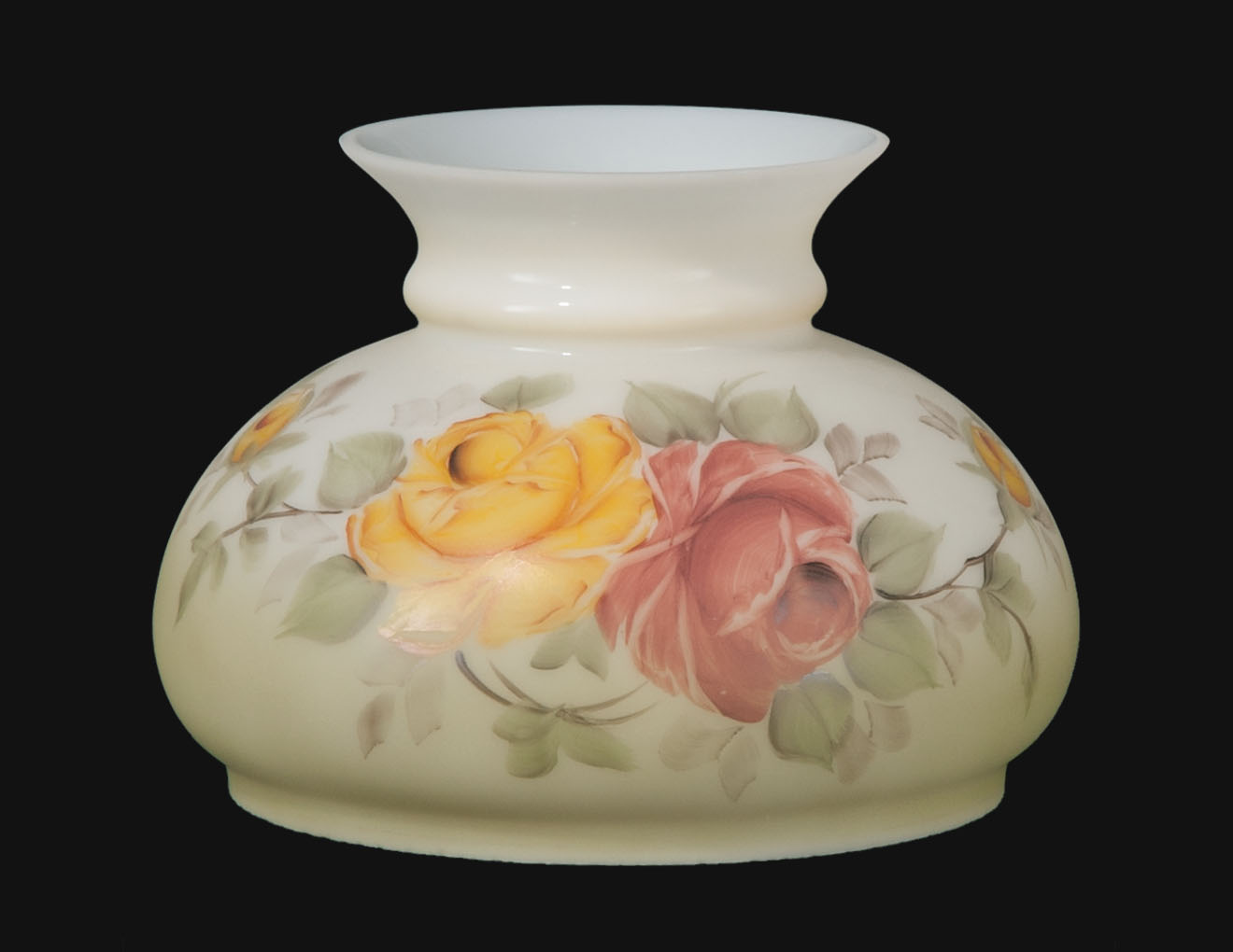 7 Hand Painted Victorian Roses Opal Shade 00517 B Amp P Lamp