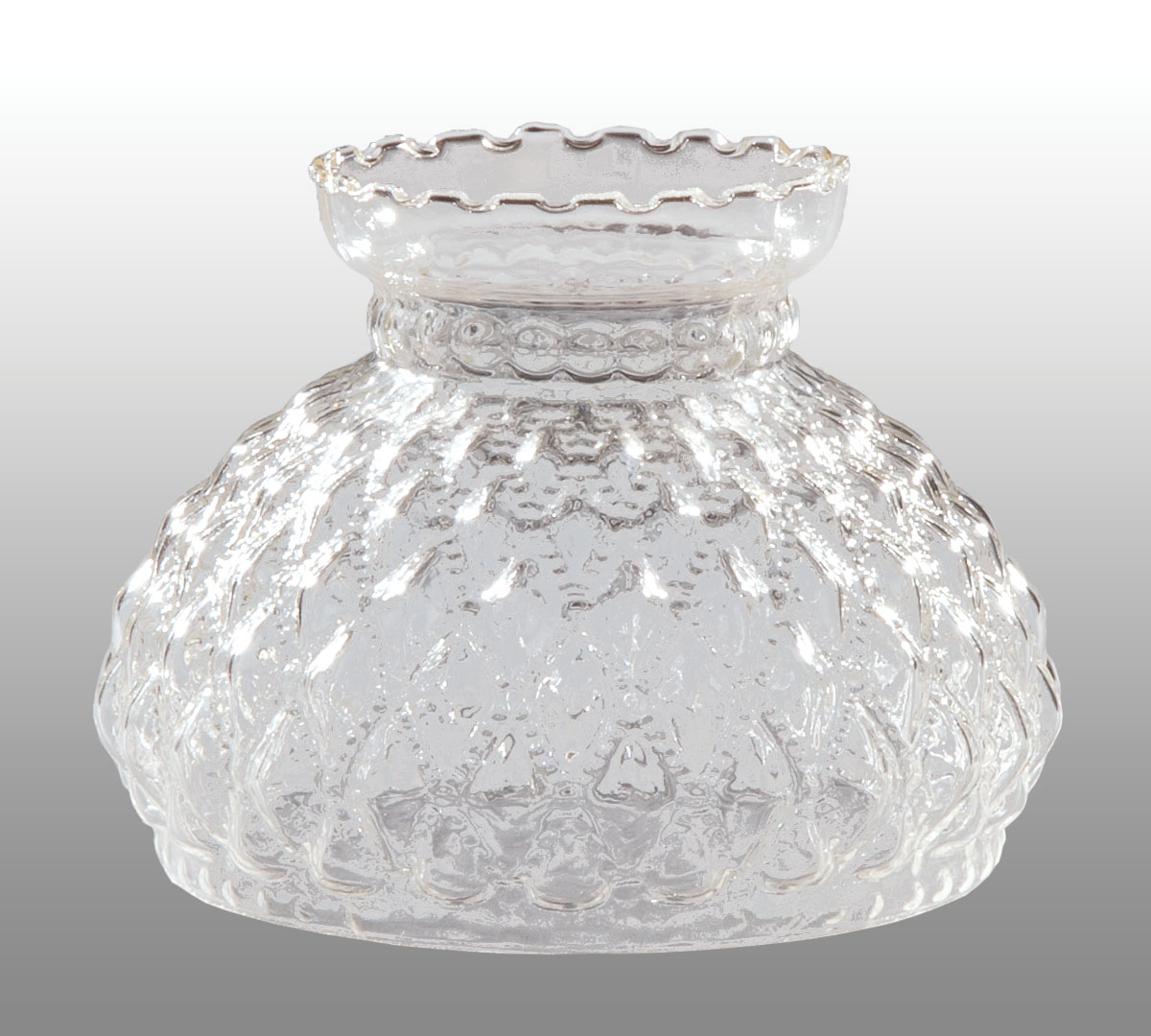 Diamond Quilted Clear Glass Shade Amp Lamp Supply