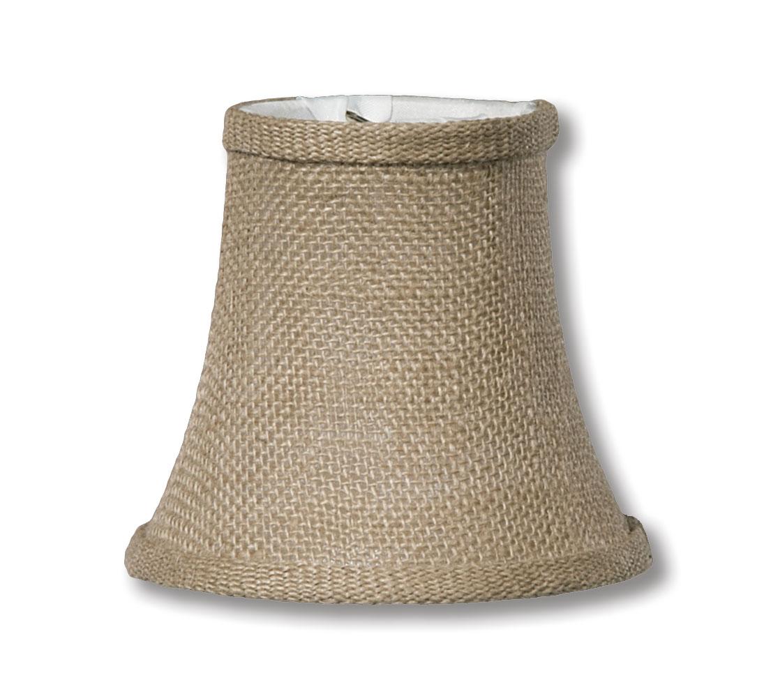 Natural Burlap Softback Bell Chandelier Shades 00681h B