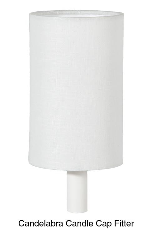 Off White Linen Cylinder Style Chandelier Hardback Shade