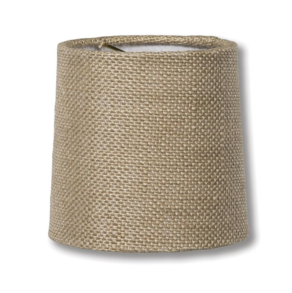 00710h Natural Burlap Chandelier Shade Mini Retro Drum Hardback