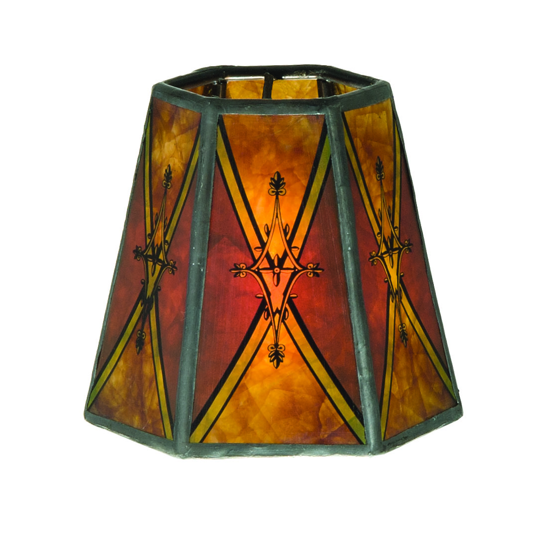Chandelier Shade Mini Hexagon Mica 00750d B Amp P Lamp Supply