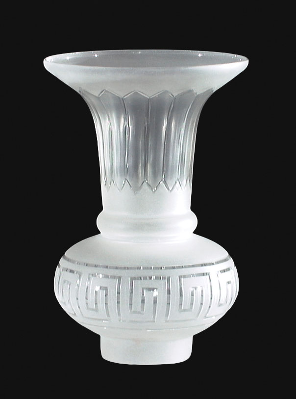 Argand Shade Hand Cut Greek Key Design 00844 B Amp P Lamp